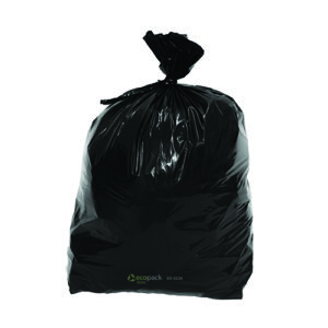 EcoPack 65L Recycled Bin Liner with 40mm Tear Top