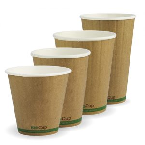 BioPak Kraft Double Wall Hot Cups