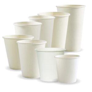 BioPak White Single Wall Hot Cups